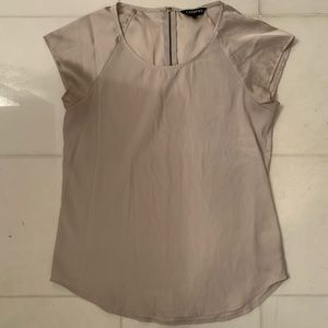Express Champagne Colored Silk Shirt